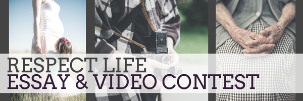 respect life essay video contest middle school undergrad > st  for the second year the diocese of richmond is holding an essay video contest in honor of respect life month in to raise awareness around the