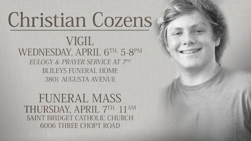 Christian Cozens Funeral And Vigil St Bridget Catholic Church